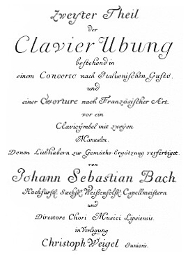 Clavier Übung II title page