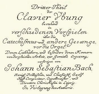 Clavier Übung III title page