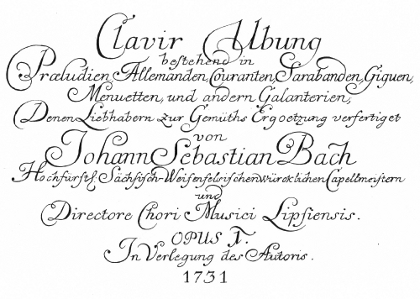 Clavier Übung I title page